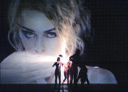 21 (Bonachela, 2003): Kylie Minogue as guest artist on the film projection. Photo © Asya Verzhbinsky.