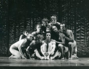 Blind-Sight (Morrice, 1969): (back row) Peter Curtis, Mary Prestidge; (middle row) Amanda Knott, Paul Taras, Julia Blaikie, Pietje Law, Gideon Avrahami; (front row) Susan Cooper, Sylvia Byrne, Jonathan Taylor. Photo © Alan Cunliffe. RDC/PD/01/212/1