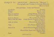 Detail of the Mercury Theatre programme for February 1938 showing Croquis de 'Mercure' (Howard, 1938). RDC/MA/04/01/0047