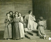 La Pomme d'Or (Donnet/Rambert, 1917): Jean Varda (centre) with child choristers in Scene 1 of the Stage Society production. Photo © Four Mirror. MR/03/02/09