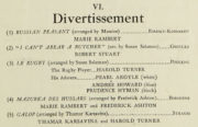 Detail of the divertissement in the programme for the July 1931 season at the Lyric Theatre, Hammersmith. RDC/MA/04/01/0012