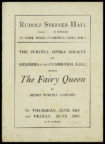 The Fairy Queen (opera): cover of the programme for Purcell Opera Society's production, 1927. RDC/MA/04/01/0001