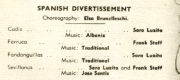Spanish Divertissement (Brunelleschi, 1947): detail of the programme for 26 December 1947, Princess Theatre, Melbourne.