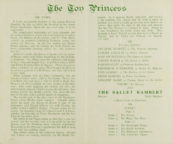 The Toy Princess: detail of the programme for 27 December 1943-22 January 1944. RDC/MA/04/01/0120