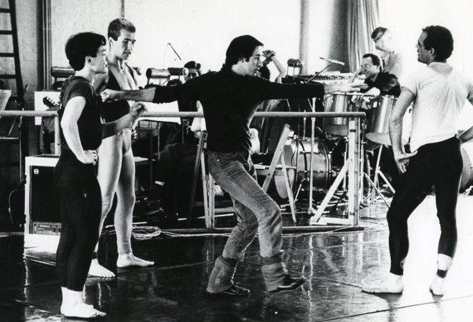 Christopher Bruce in rehearsals for Ghost Dances, 1981 (c) Nobby Clark